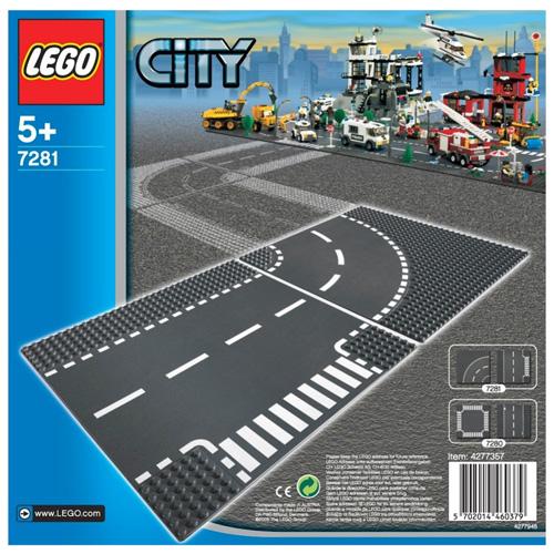 Stavebnice LEGO City Křižovatka a zatáčka, 2 dílky