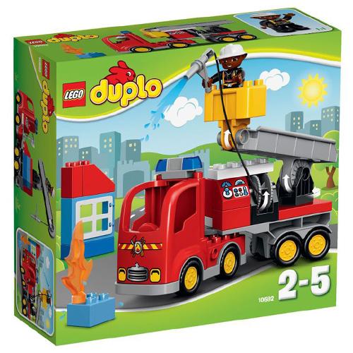 Stavebnice LEGO Duplo Hasičské auto, 26 dílků