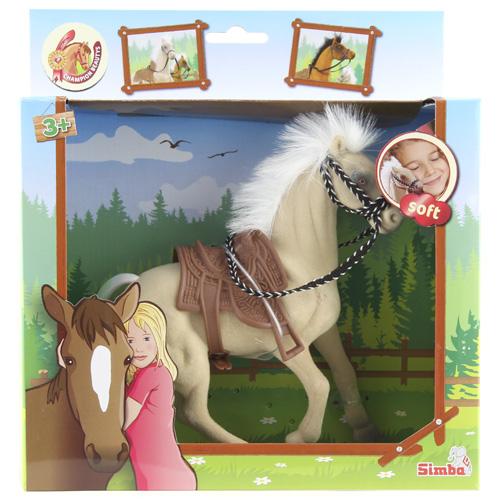Jezdecký kůň Simba bílá hříva, béžová