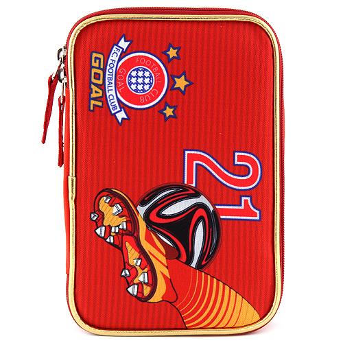 Školní penál s náplní Target Goal, barva červená