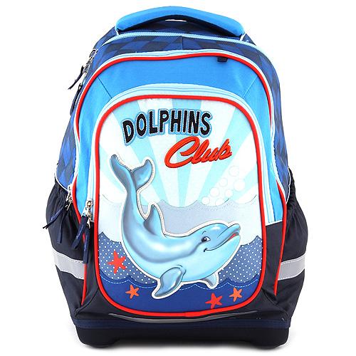 Školní batoh Target Dolphins Club, barva modrá
