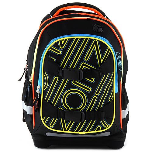 Školní batoh Target Černý se žlutou výšivkou