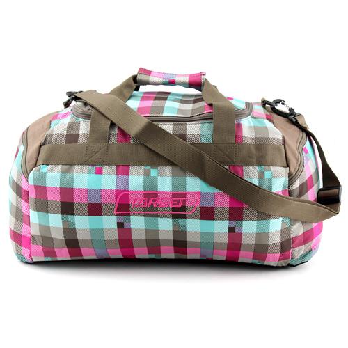 Cestovní taška Target Kostkovaná, růžovo-modro-hnědá