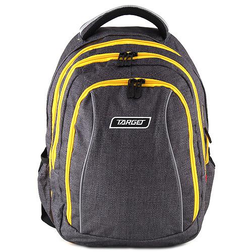 Školní batoh 2v1 Target Šedý se žlutými zipy