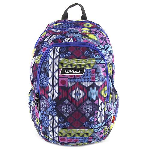 Školní batoh Target Barevný, fialovo růžový