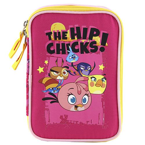 Školní penál s náplní Target Angry Birds, barva růžová