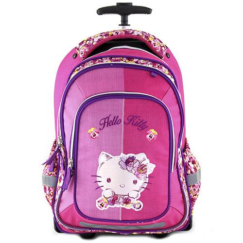 Školní batoh trolley Target Nášivka kočičky Hello Kitty