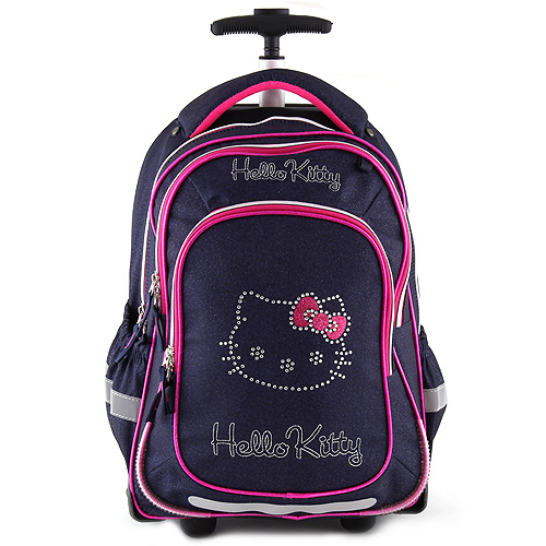 Školní batoh trolley Target Modrý jeans, motiv kočičky Hello Kitty