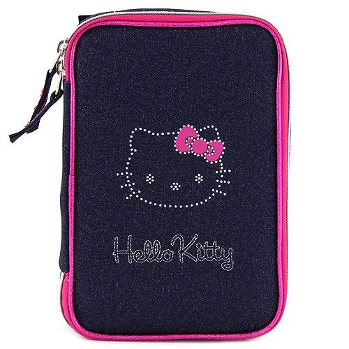 Školní penál s náplní Target Hello Kitty, tmavě modrý jeans