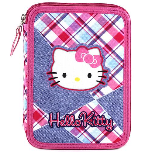 Školní penál s náplní Target Hello Kitty, barevné kostky, růžová