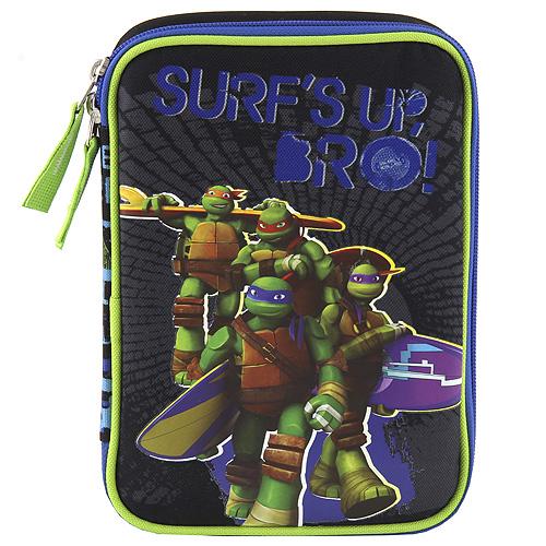 Školní penál s náplní Target Ninja želvy, barva černá