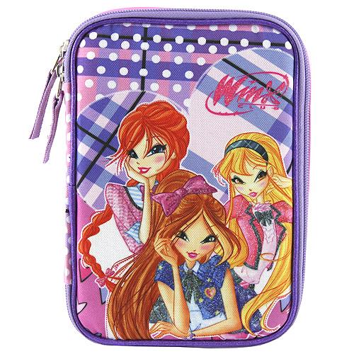 Školní penál s náplní Target Winx Club, barva fialovo/růžová
