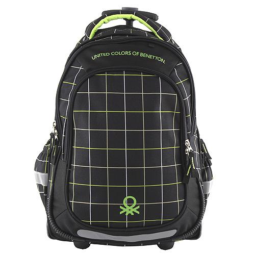 Školní batoh Target Benetton, černo/zelená
