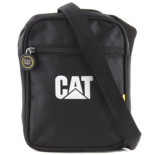 Caterpillar Kabelka přes rameno CAT Černá, stříbrný nápis CAT
