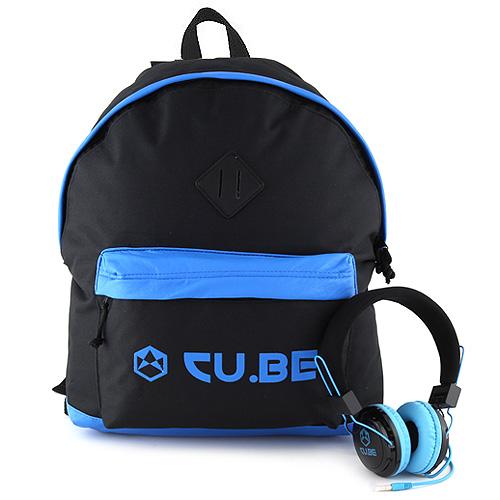 Target Batoh se sluchátky CU.BE Černý s modrými doplňky