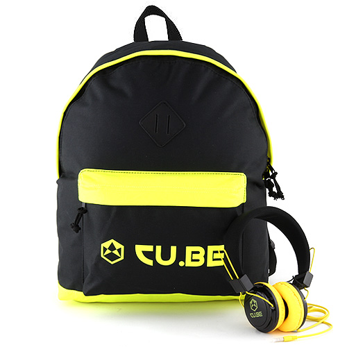 Target Batoh se sluchátky CU.BE Černý s neonově žlutými doplňky
