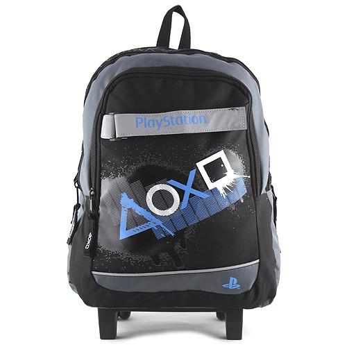 Target Školní batoh trolley PlayStation Bílé/modré symboly