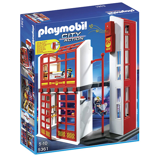 Hasičská zbrojnice s alarmem Playmobil Hasiči