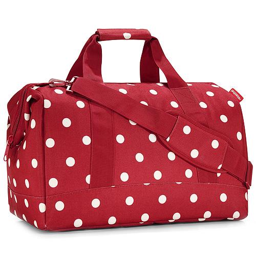 Taška cestovní Reisenthel Červená s puntíky, velikost L