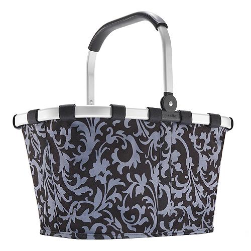 Nákupní košík Reisenthel Tmavě modrý s barokními ornamenty | carrybag baroque navy