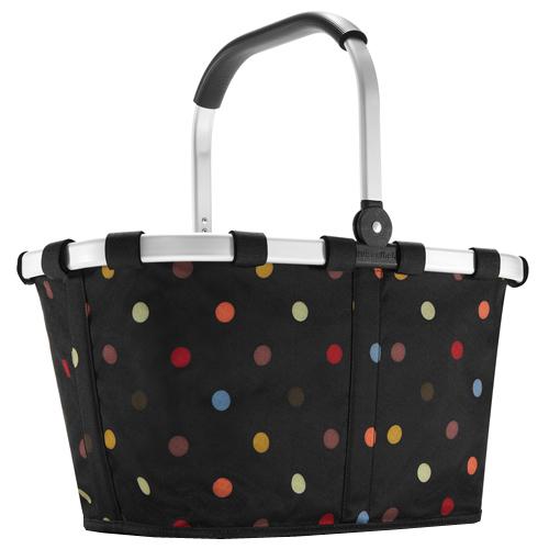 Nákupní košík Reisenthel Černý s barevnými puntíky | carrybag dots