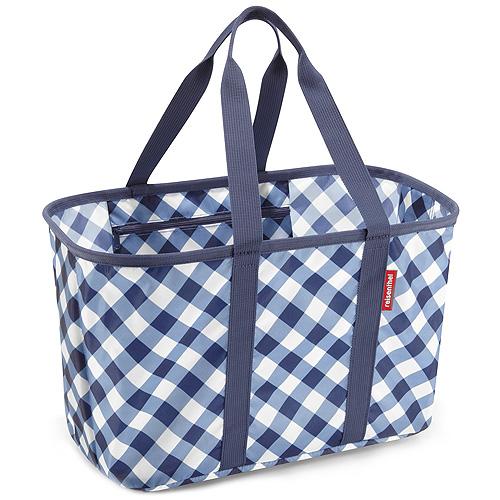 Nákupní košík Reisenthel Modrý s kosočtverci | mini maxi basket square marine