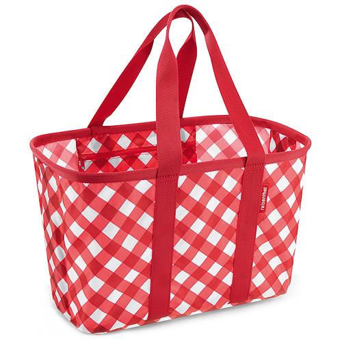 Nákupní košík Reisenthel Červený s kosočtverci | mini maxi basket square red