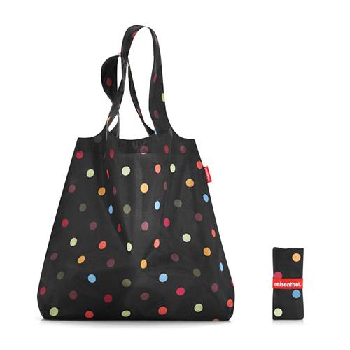 Nákupní taška Reisenthel Černá s barevnými puntíky | mini maxi shopper dots