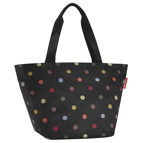Nákupní taška Reisenthel Černá s barevnými puntíky | shopper M dots