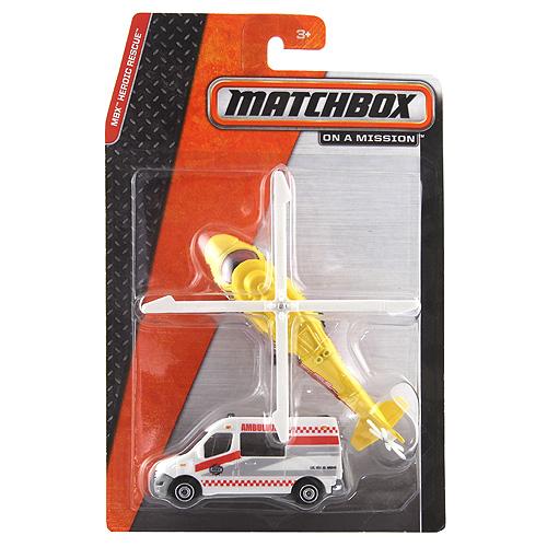 Auto a letadlo Mattel ambulance a helikoptéra