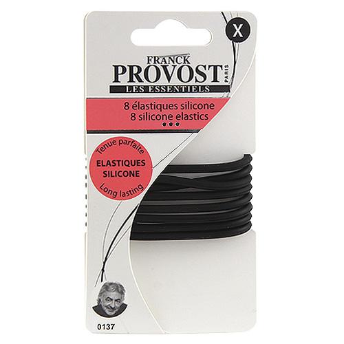 Gumičky silikonové 8ks Franck Provost 8ks, černé, 7cm