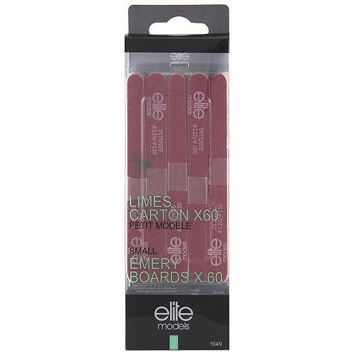 Pilníky na nehty Elite Models 60ks, intense, 11,5cm červený