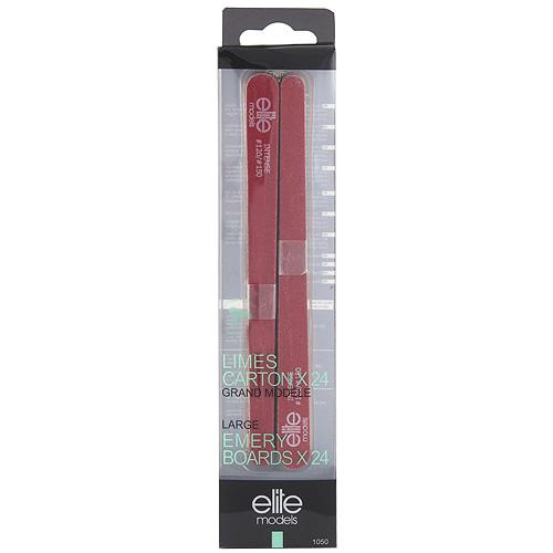 Pilníky na nehty Elite Models 24ks, intense, 17cm červený