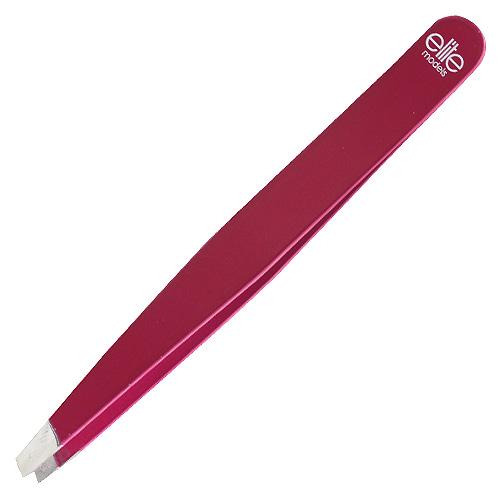 Pinzeta zešikmená Elite Models s pouzdrem, růžová, 9,5cm