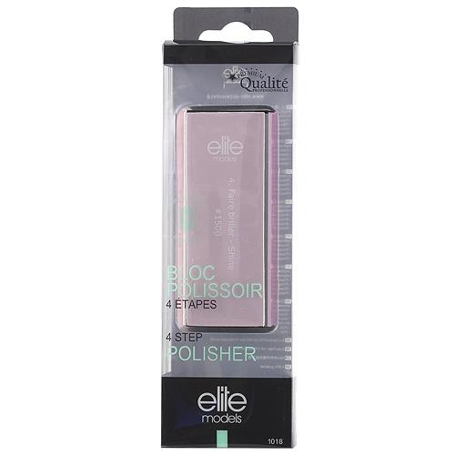 Pilník na nehty a leštění Elite Models ASST 4-povrchový, délka 90mm