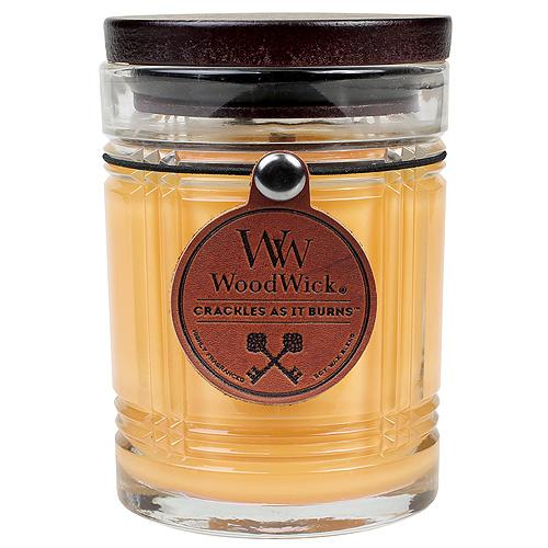 Svíčka skleněná váza WoodWick Deštný prales, 226.8 g