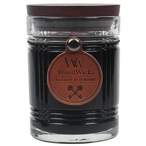 Svíčka skleněná váza WoodWick Půlnoc, 226.8 g