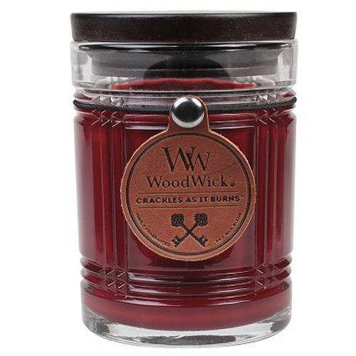 Svíčka skleněná váza WoodWick Mahagon, 226.8 g