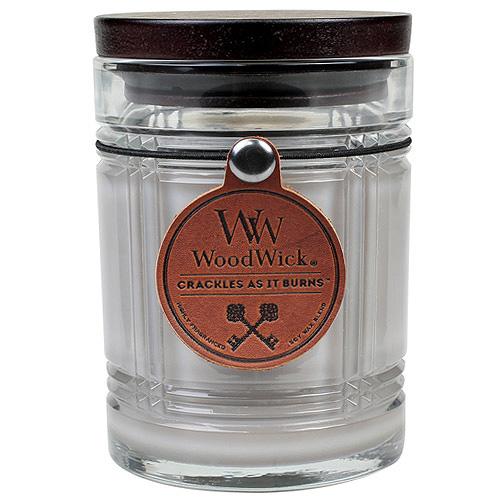 Svíčka skleněná váza WoodWick Žhavý popel, 226.8 g