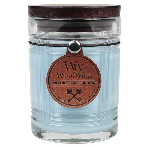 Svíčka skleněná váza WoodWick Naplavené dřevo, 226.8 g
