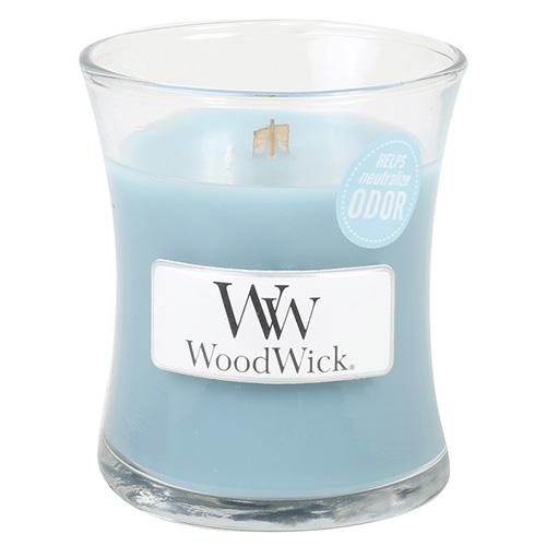 Fotografie Svíčka oválná váza WoodWick Svěží prádlo, 85 g