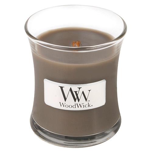 Fotografie Svíčka oválná váza WoodWick Písek a naplavené dřevo, 85 g