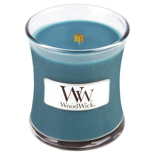 Svíčka oválná váza WoodWick Horká letní noc, 85 g
