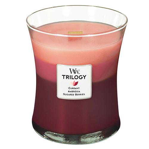 Svíčka Trilogy WoodWick Ovocné pokušení, 275 g