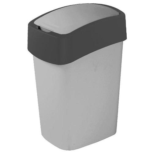Odpadkový koš Curver Objem 10 l, stříbrno/antracitový