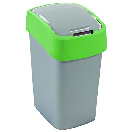 Odpadkový koš Curver Zeleno/stříbrný, objem 10 l