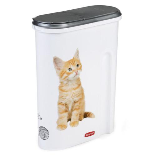 Kontejner na krmivo Curver S motivem koťátka, na 1.5 kg suchého krmiva