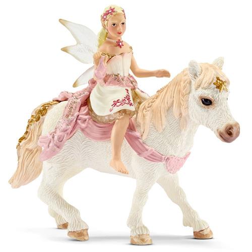 Elfka s koněm Schleich výška 7 a 8,5 cm