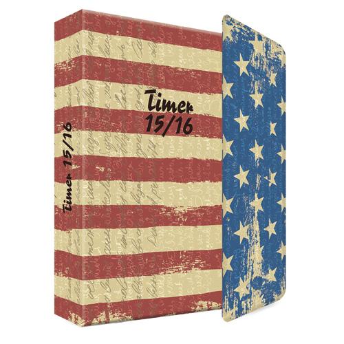 AT Edition A. Trötsch Školní diář Edition A. Trötsch motiv vlajky USA, 11 x 15 cm