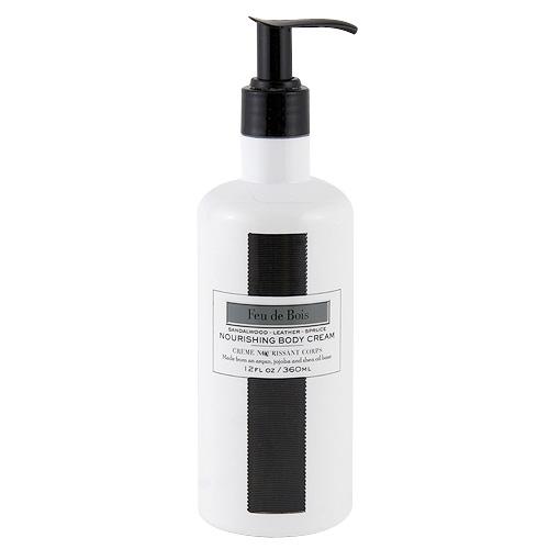 Tělový krém Lafco New York Santálové dřevo, kůže a smrk, 360 ml